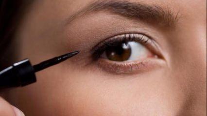 Kolay eyeliner sürme yöntemleri