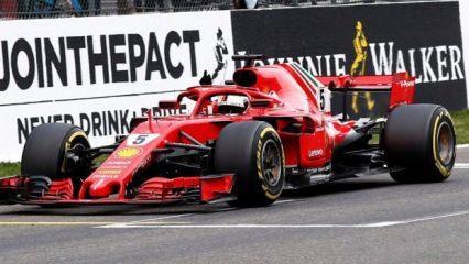 Belçika'da zafer Vettel'in oldu!