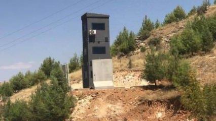 Diyarbakır-Mardin yolunda zırhlı güvenlik kuleleri