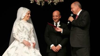 Başkan Erdoğan milletvekili Ali İhsan Arslan'ın nikah şahitliğini yaptı