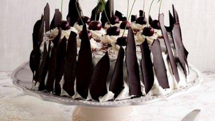 Evde vişneli karaorman pastası tarifi