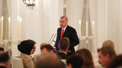 Cumhurbaşkanı Erdoğan Almanca konuştu