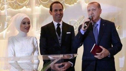 Başkan Erdoğan Saide Simin Mercan'ın nikah şahidi oldu