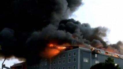 İstanbul'da büyük yangın! Diğer fabrikalara da sıçradı