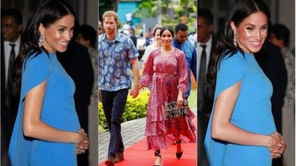 Meghan Markle'nin hamile stili göz kamaştırdı