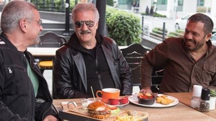 Ünlü oyuncudan hamburgerli motosiklet muhabbeti