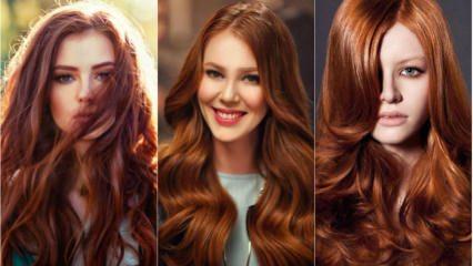 Bakır saç rengi kimlere yakışır? Bakımı nasıl yapılır?