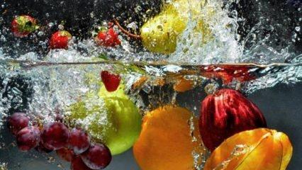 Sebze ve meyveler nasıl yıkanır?