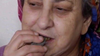50 yıldır beton yiyen kadını görenler ağzı açık kaldı