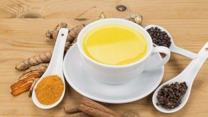 Altın sütünün faydaları nelerdir? Altın sütü nasıl yapılır? Gece yatmadan önce içerseniz...