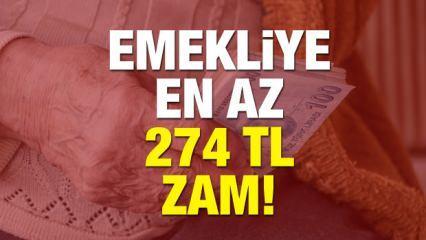 Beklenen zam haberi! Emekli maaşlarına en düşük 274 TL (4 Farklı Hesaplama)