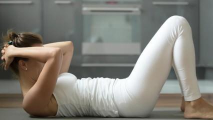 Evde yapılabilecek en etkili göbek eritme hareketleri