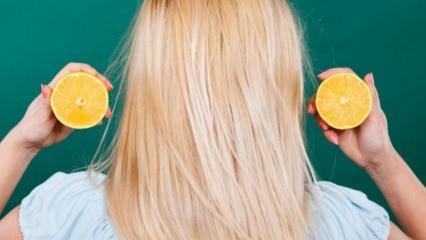 Limonun saça faydaları nelerdir?