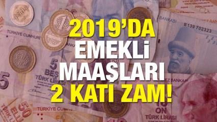 2019 Emekli maaşlar için zam oranları! Yeni yılda 12 milyon emeklinin ayılıkları...