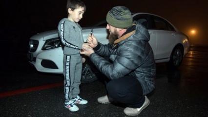 5 yaşındaki rekortmen çocuğa Mercedes hediye etti