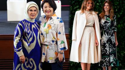 G 20 zirvesine First Lady'lerin kıyafetleri damga vurdu!