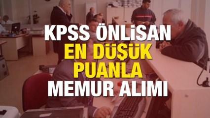 KPSS Önlisans 60, 65, 70, 75, 80 puanıyla memur alımı olacak mı?