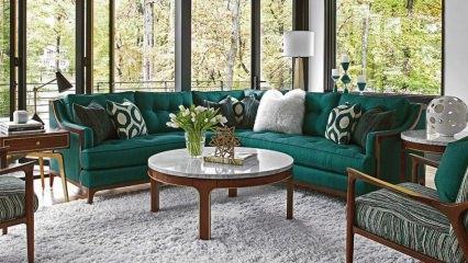 Ev dekorasyonunda 'Nefte Yeşili' kombinasyonu
