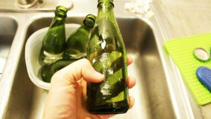 Cam şişe üzerinden etiket çıkarma yöntemi