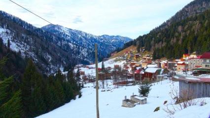 Ayder Yaylası'nda kar tatili başladı!