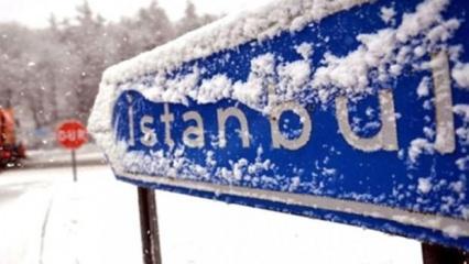 İstanbul'da şiddetli kar yağışı bekleniyor
