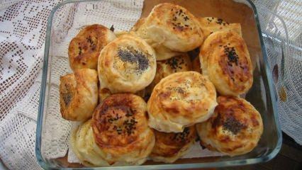 Pratik kıymalı gül böreği nasıl yapılır?