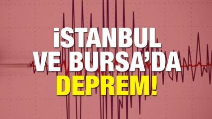 Marmara'da şiddetli deprem! İstanbul ve Bursa sallandı!