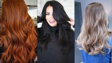 Yeni sezonda trend olan saç renkleri