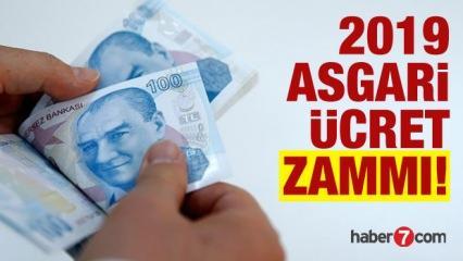 2019 asgari ücret zammı açıklandı! Asgari ücret ne kadar oldu?