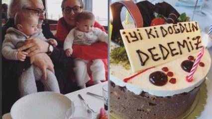 Rutkay Aziz ikiz torunlarıyla doğum günü kutladı