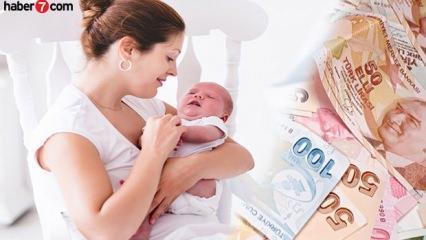 Doğum parası ve süt yardımı kaç TL? Doğum izni şartları neler (2019)
