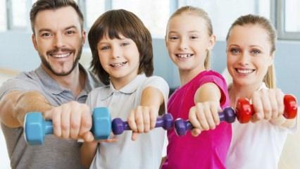 Çocukların yapabilecekleri kolay spor hareketleri