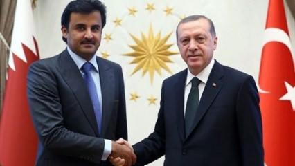Cumhurbaşkanı Erdoğan Katar Emiri'ni aradı