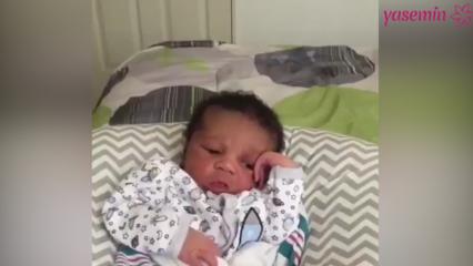 Dertli bebek sosyal medyayı yıktı!