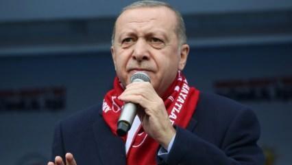 Mitingde Erdoğan'ı kızdıran olay!