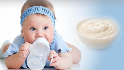 Bebekler için kolay pirinç unlu mama tarifi! Evde bebek muhallebisi yapımı