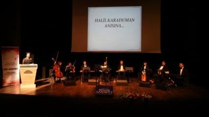 Usta sanatçı Halil Karaduman şarkılarıyla anıldı