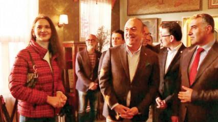 Bakan Mevlüt Çavuşoğlu Yüzleşme dizisinin setini ziyaret etti