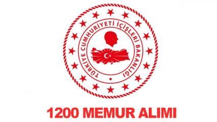 İçişleri Bakanlığı farklı kadrolara 1200 personel alımı! Başvuru özel şartları...