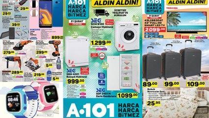 21 ŞUBAT A101 aktüel kataloğunun tamamı! Yüzlerce yeni üründe dev kampanya..
