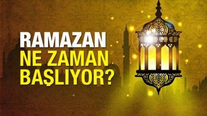 Ramazan ne zaman başlıyor? Diyanet oruç ayının başlangıç tarihi...