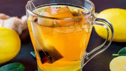 Kolay zayıflatan yeşil çay ve maden suyu karışımı