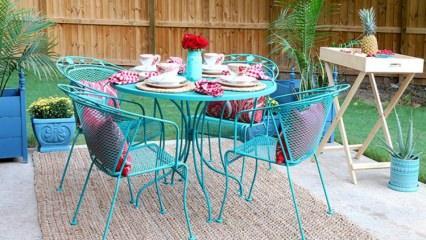 Demir veranda mobilyalar nasıl boyanır?
