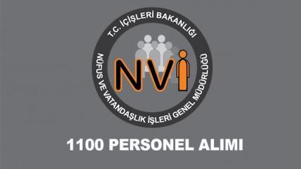 Nüfus ve Vatandaşlık İşleri (NVİ) 1100 personel alımı ne zaman? Başvuru...