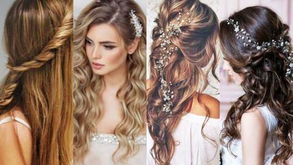 Kına geceleri için açık saç modelleri