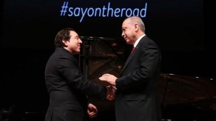 Cumhurbaşkanı Erdoğan: Fazıl Say'dan beste istedik