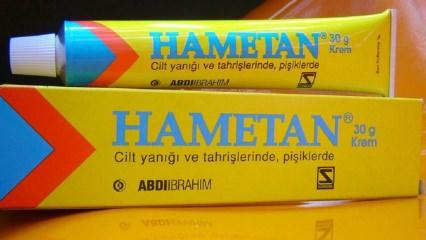 Hametan krem ne işe yarar? Hametan krem nasıl kullanılır?