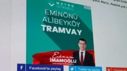 Ekrem İmamoğlu, yapılmış tramvayı vadetti!