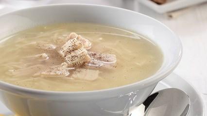 Tavuk etli acılı çorba tarifi