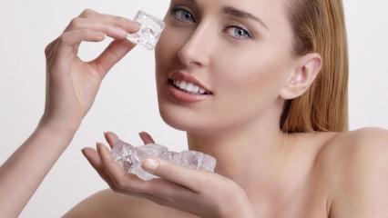 Buzun cilde faydaları neler? Buz sivilceye sürülür mü?
